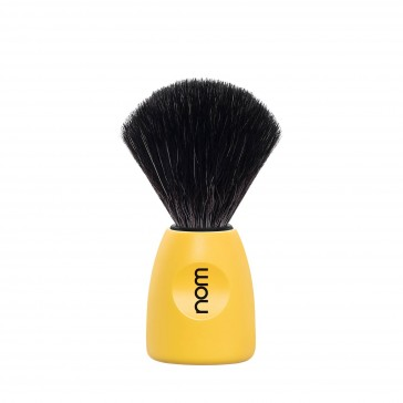 Mühle Nom Lasse Shaving Brush Black Fibre, lemon