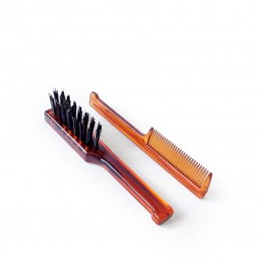 Mondial Antica Barberia Brush & Comb Set