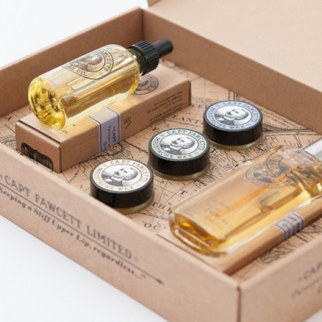 Captain Fawcett Parfum, Wax & Beard Oil Gift Set