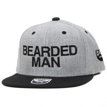 Bearded Man Apparel Official Grey/Black Snapback