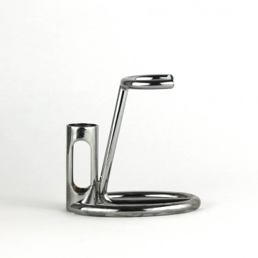 Omega Chrome Shaving Brush & Razor Stand