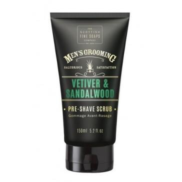 The Scottish Fine Soaps Vetiver & Sandalwood Pre Shave Scrub