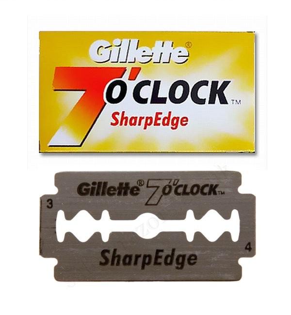 Gillette 7 O'clock Sharp Edge Double Edge Razor Blades
