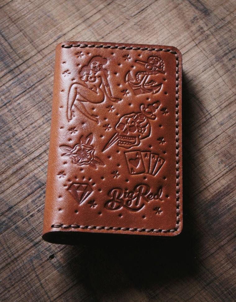 Big Red Beard Bi-Fold Wallet - Tattoo Edition