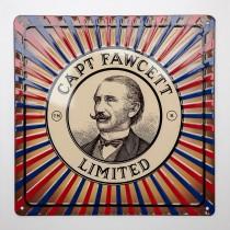 Captain Fawcett Tin Plate Sign