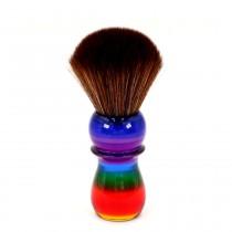 Yaqi Synthetic Pony Shaving Brush Rainbow 26mm