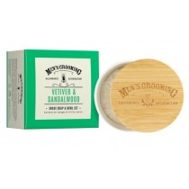 The Scottish Fine Soaps Vetiver & Sandalwood Shave Soap Bowl
