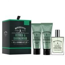 The Scottish Fine Soaps Vetiver & Sandalwood Well Groomed Gift Set