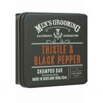 The Scottish Fine Soaps Thistle & Black Pepper Shampoo Bar