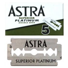 Astra Superior Platinum Double Edge Razor Blades 5-p