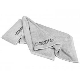 Mr Bear Family Barber Towel Grey