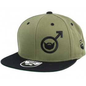Bearded Man Apparel Beard Symbol Olive/Black Snapback