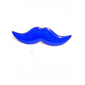 Blå mustaschen