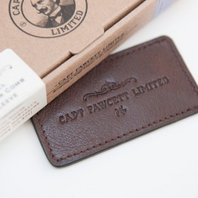 Captain Fawcett Leather Case for Folding Moustache Comb