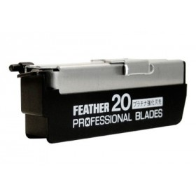 Feather Professional Straight Razor Blades 20-p