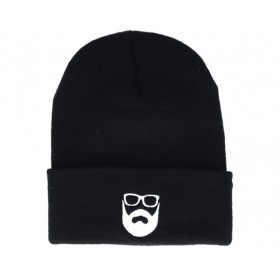 Bearded Man Apparel Logo Black Beanie