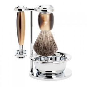 Muhle Vivo Shaving Set Safety Razor + Brush + Bowl, Corne