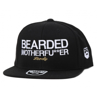 Bearded Man Apparel Bearded Motherfu**er Black Snapback