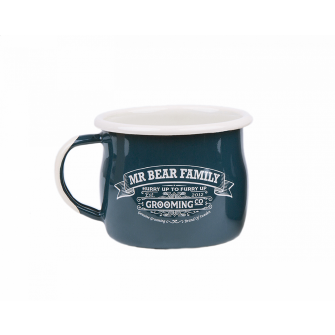 Mr Bear Family Shaving Mug Enamel
