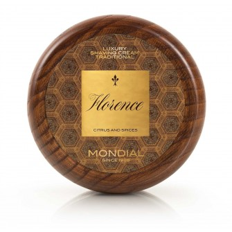Mondial Florence Luxury Shaving Cream Wooden Bowl