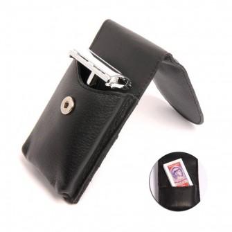 Giesen & Forsthoff Safety Razor Chrome w Leather Case