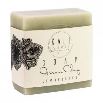 Kaliflower Organics Green Clay Soap Lemonsgrass