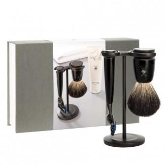 Muhle Rytmo Shaving Set Fusion / Dark Badger