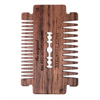 Big Red Beard Comb No.16 - Hardwood Blade Walnut