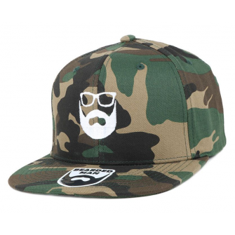 Bearded Man Apparel Logo Green Camo Snapback