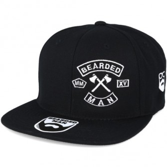 Bearded Man Apparel MC Patch Black Snapback