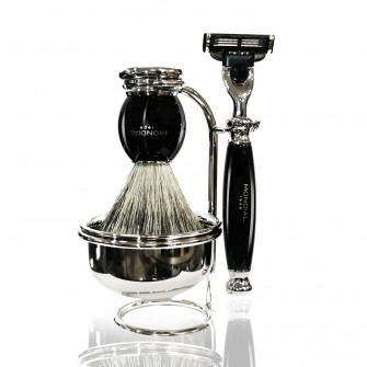 Mondial Classic Shaving Set Mach3 with Bowl