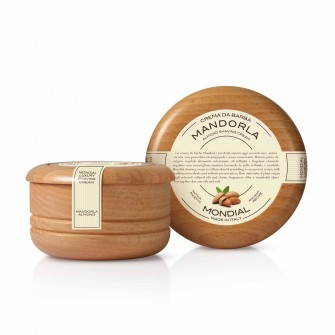 Mondial Classic Luxury Shaving Cream Mandorla Wooden Bowl