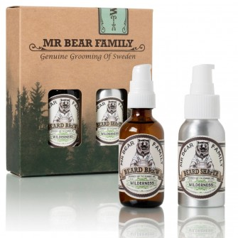 Mr Bear Family Beard Kit Brew & Shaper