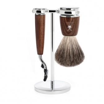 Muhle Rytmo Shaving Set Mach3 Razor + Brush, Ash