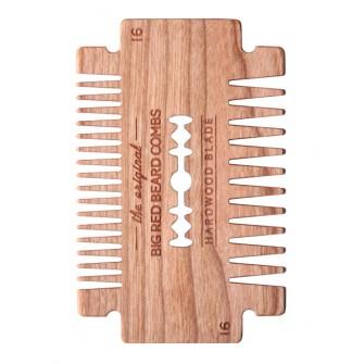 Big Red Beard Comb No.16 - Hardwood Blade Cherry