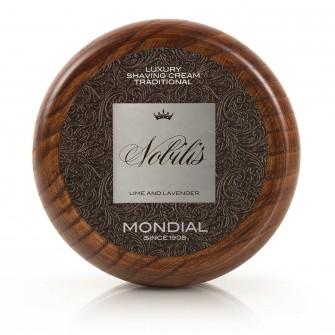 Mondial Nobilis Luxury Shaving Cream Wooden Bowl