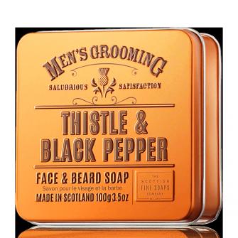 The Scottish Fine Soaps Thistle & Black Pepper Face & Beard Soap