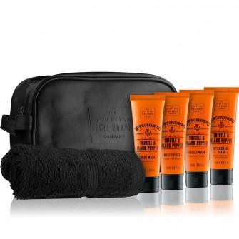The Scottish Fine Soaps Thistle & Black Pepper Travel Bag 4x75ml