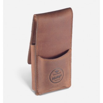 Giesen & Forsthoff Vintage Leather Pouch for Safety Razor