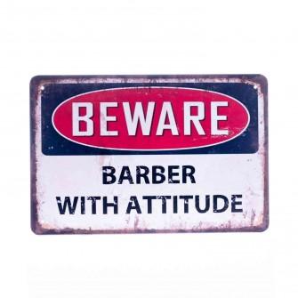Barber Vintage Metal Sign