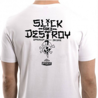 Uppercut Deluxe T-Shirt Slick & Destroy White/Black