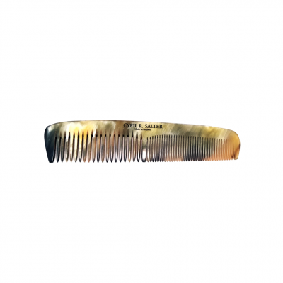 Cyril R Salter Double Tooth Comb Genuine Horn 15 cm