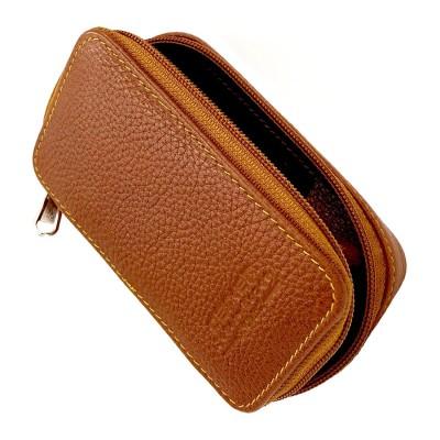 Parker Saddle Leather Zip Case Safety Razor