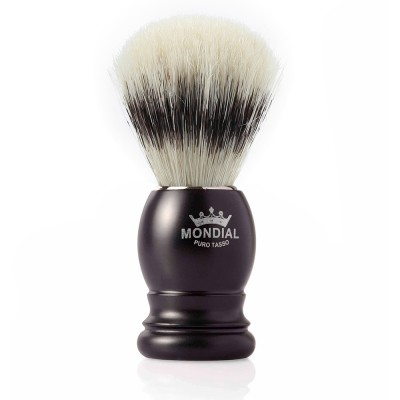 Mondial Basic Shaving Brush Pure Bristle, Satin Black