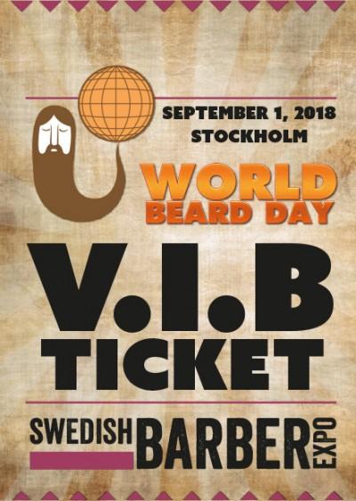 World Beard Day 2018 V.I.B-biljett
