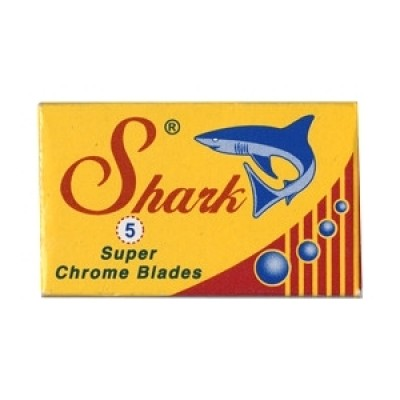 Shark Super Chrome Double Edge Razor Blades 5-p