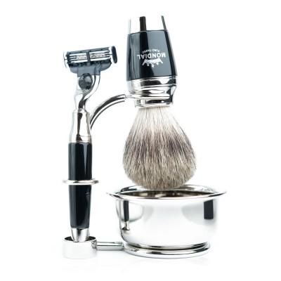 Mondial Dublino Shaving Set with Bowl, Mach3