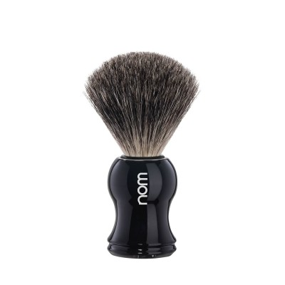 Mühle Nom Gustav Shaving Brush Pure Badger, black