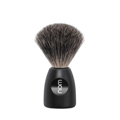 Mühle Nom Lasse Shaving Brush Pure Badger, black