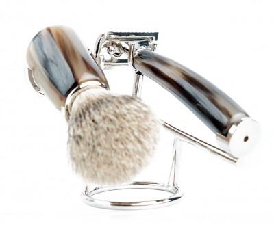 Mondial Corno Shaving Set Safety Razor